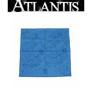 Berluti(ベルルッティ) 銀座店 ベルルッティ ハンカチーフ カリグラフィ ブルー|atlantis