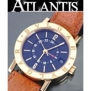 BVLGARI 銀座店 ブルガリ BB33 GL GMT メンズ 腕時計 K18YG 黒文字盤|atlantis