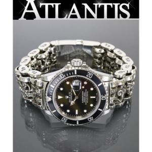 CHROME HEARTS 銀座店 新品 クロムハーツ インボイス付き ロレックス サブマリーナ デイト ケルティックローラー ウォッチブレス メンズ 腕時計|atlantis