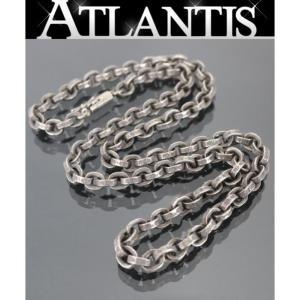 銀座店 クロムハーツ ペーパーチェーン ネックレス 18インチ シルバー SV925|atlantis