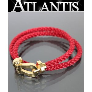 FRED 銀座店 フレッド FRED フォース10 LM YG ブレスレット 替えブレス付き ゴールド×赤×白|atlantis