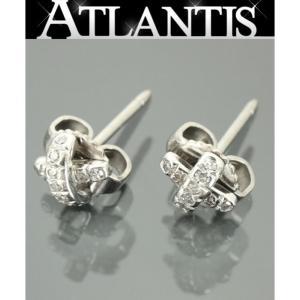 TIFFANY&CO 銀座店 ティファニー TIFFANY&CO クロスステッチ ダイヤ ピアス  PLAT 18KWG|atlantis