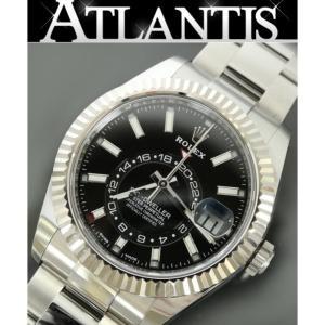 銀座店 ロレックス ROLEX 326934 スカイドゥエラー ランダム番 メンズ 腕時計 フルコマ 黒文字盤 atlantis
