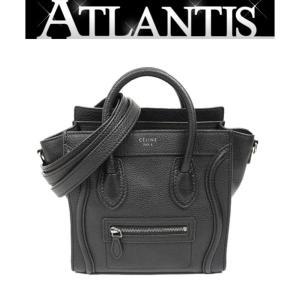 CELINE 銀座店 セリーヌ ラゲージ ナノ ショッパー nano 2WAY バッグ 黒|atlantis