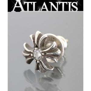 CHROME HEARTS 銀座店 クロムハーツ 1Pダイヤ CHプラス スタッド ピアス シルバー SV925|atlantis