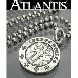 銀座店 クロムハーツ エンジェルメダル チャーム ボールチェーン ネックレス シルバー 925|atlantis