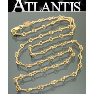 CHROME HEARTS 銀座店 クロムハーツ インボイス付き ツイストチェーン ネックレス 18インチ 22K ゴールド|atlantis