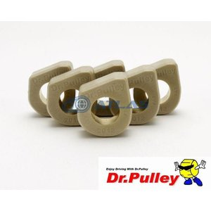 メール便対応可 Dr.Pulley(ドクタープーリー)スライディングウェイトローラー φ20×12 (11.5g) 6個セット|atlas-parts