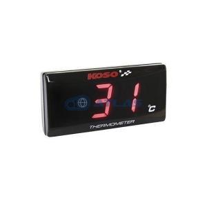 KOSO スーパースリムスタイル温度計  レッド|atlas-parts