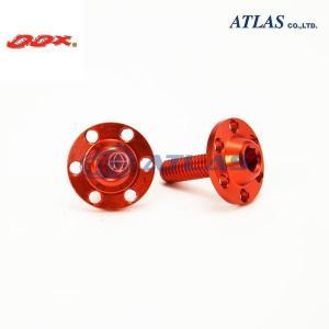 メール便対応可 DDX アルミ ライセンス スクリュー セット オレンジ M6×20mm P1.0|atlas-parts