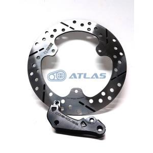DOG HOUSE XMAX リア267mmブレーキディスク+ブレンボ84mmピッチキャリパーサポート ブラックセット|atlas-parts