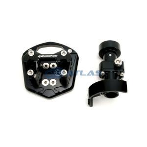 GO WORKS NMAX ハンドルポスト φ28.6mmテーパーハンドルブラケットセット ブラック|atlas-parts