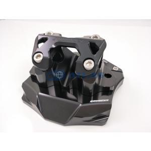 GO WORKS XMAX250 ハンドルポスト Φ28.6mmテーパーハンドル用 ブラック ハンドルマウントブラケット|atlas-parts