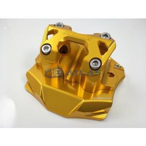 GO WORKS XMAX250 ハンドルポスト Φ28.6mmテーパーハンドル用 ゴールド ハンドルマウントブラケット|atlas-parts