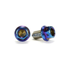 メール便対応可 JSM ☆Star Bolt CNC加工 ヘキサゴンヘッド SUS PVDチタンコート ボルト M6×10mm P1.0mm 焼き色ブルー仕上げ|atlas-parts