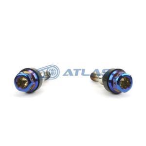 メール便対応可 JSM ☆Star Bolt CNC加工 ヘキサゴンヘッド SUS PVDチタンコートボルト M6×30mm P1.0mm M10ヘッド 焼き色ブルー|atlas-parts