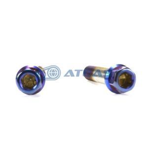 メール便対応可 ☆Star Bolt CNC加工 ヘキサゴンヘッド SUS PVDチタンコート ボルト M8×35mm P1.25mm 焼き色ブルー仕上げ atlas-parts