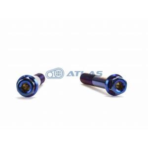 メール便対応可 ☆Star Bolt CNC加工 ヘキサゴンヘッド SUS PVDチタンコート ボルト M10×60mm P1.5mm 焼き色ブルー仕上げ|atlas-parts