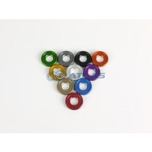 メール便対応可 JSM ☆Star Washer CNC加工 アルマイトカラーワッシャー グリーン M5/M6共用|atlas-parts