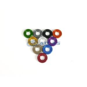 メール便対応可 JSM ☆Star Washer CNC加工 アルマイトカラーワッシャー レッド M5/M6共用|atlas-parts