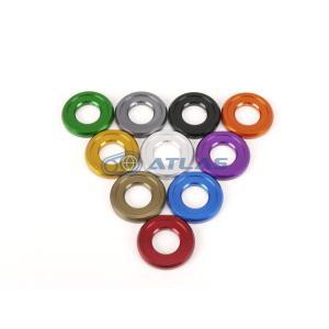 メール便対応可 JSM ☆Star Washer CNC加工 アルマイトカラーワッシャー レッド M8ソケットボルト用|atlas-parts