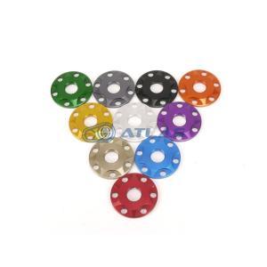 メール便対応可 JSM ☆Star Washer CNC加工 アルマイトカラー 6ホール スターデザインワッシャー グリーン M6用|atlas-parts