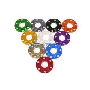 メール便対応可 JSM ☆Star Washer CNC加工 アルマイトカラー 6ホール スターデザインワッシャー ブロンズ M8用|atlas-parts