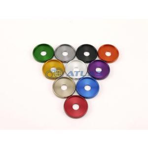 メール便対応可 ☆Star Washer CNC加工 アルマイトカラー M6ビッグヘッドボルト用 皿型ワッシャー レッド|atlas-parts