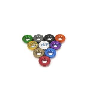 メール便対応可 JSM ☆Star Washer CNC加工 アルマイトカラー M5,M6 Star ボルト用 凸型ワッシャー ゴールド|atlas-parts