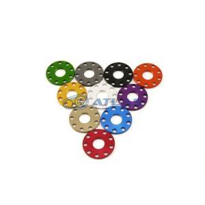 メール便対応可 ☆Star Washer CNC加工 アルマイトカラー 9ホール フラットワッシャー レッド M8用|atlas-parts