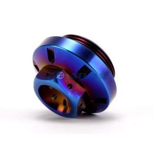 メール便対応可 Star Bolt CNC加工 PVDチタンコート 強力マグネット付 SUS オイルストレーナーキャップ(オイルドレインプラグ)焼色ブルー仕上 YAMAHA(ヤマハ)|atlas-parts