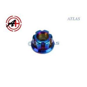 メール便対応可 ☆Star Bolt CNC加工 SUS ステンレス PVDチタンコート12ポイント フランジナット M6 P1.0 焼き色ブルー仕上げ|atlas-parts