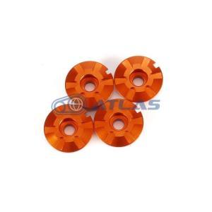 メール便対応可 JSM アルミビレット ステップボード ホールキャップv2 4個セット オレンジ シグナスX(CYGNUS X)、マジェスティS(MAJESTY S)|atlas-parts