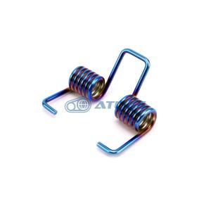 JSM 4th CYGNUS X( シグナスX),BW`S125,BW`S R用 ステンレス シートスプリングダンパー PVDチタンコート 焼き色ブルー|atlas-parts