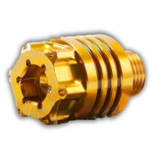 JAPAN SPEED YAMAHA車系 ギアオイルプラグ(ミッションオイルキャップ) M14×13mm P1.5 ゴールド CYGNUS X シグナスX MAJESTY S マジェスティS SMAX NMAX125|atlas-parts