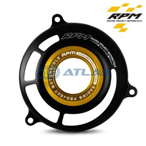 RPM アルミサークルファンカバー ブラック/ゴールド 【CYGNUS X】【シグナスX】【BW`S】【BW`S X】【BW`S R】【GTR125】|atlas-parts