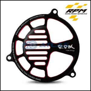 メール便対応可 RPM ダブルアルマイト アルミスリットファンカバー ブラック/レッド 【CYGNUS X】【シグナスX】【BW`S】【BW`S X】【BW`S R】【GTR125】|atlas-parts