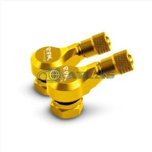 RPM CNC アルミエアバルブ 70度2個セット ゴールド|atlas-parts