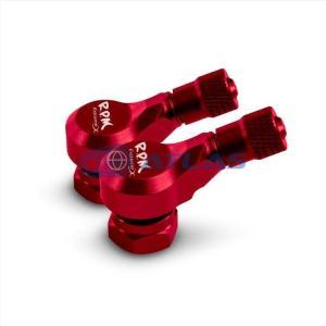 RPM CNC アルミエアバルブ 70度2個セット レッド|atlas-parts