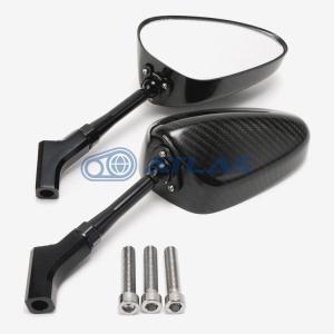 SIMOTA ツイルカーボンミラー オーバル クリアレンズ 100mmステム|atlas-parts