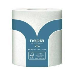 王子ネピア ネピアトイレロール 75m×1ロール シングル 個包装タイプ ( トイレットペーパー1RS )|atlife-shop