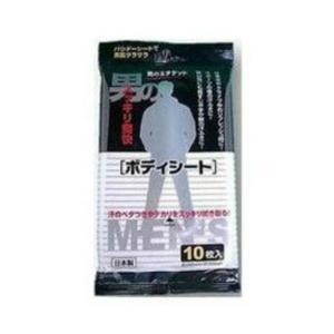 男のボディシート メントール配合 大判サイズ  10枚 ( 4580131771100 )|atlife-shop