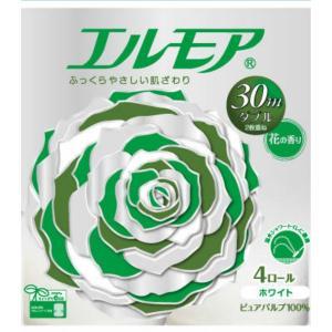 カミ商事 エルモア トイレットペーパー 花の香り ダブル 2枚重ね 30M × 4ロール入|atlife-shop
