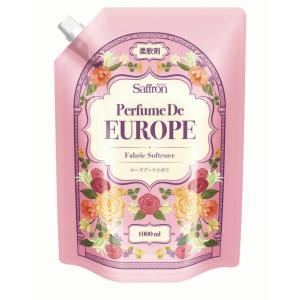トイレタリージャパン 香りサフロン 柔軟剤 パフュームドヨーロッパ ローズブーケの香り 大容量 1000ml|atlife-shop