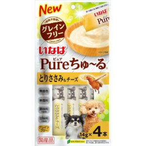 いなば Pureちゅ〜る とりささみ&チーズ 14g×4本|atlife-shop