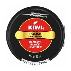 【メール便送料無料】 ジョンソン KIWI 油性靴クリーム 黒 45ml 1個|atlife-shop