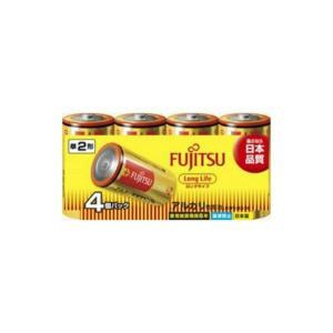 【送料無料・まとめ買い×5点セット】【FDK】富士通 アルカリ乾電池 単二形 4本入りパック LongLife LR14FL ( 4S )|atlife-shop