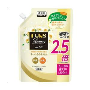 【送料無料・まとめ買い×8個セット】第一石鹸 FUNS Luxury ファンス ラグジュアリー 柔軟剤 No.92 詰替用 1200ml|atlife-shop