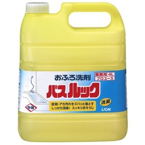【業務用】ライオンハイジーン 業務用バスルック 4L プロユース仕様 スッキリ感のあるレモンタイプの香り(お風呂の洗剤)|atlife