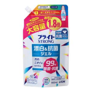 ライオン ブライト STRONG ブライトストロング 衣料用漂白剤 つめかえ用 大 900ml 1個|atlife